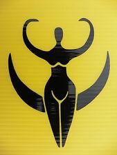 pagan moon fertility Goddess myths magic stickers/car/van/window/decal 5302 bk