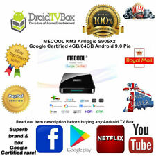 MECOOL KM3 Smart Android 9.0 TV Box Media Player Amlogic S905X2 4GB 64GB Wifi