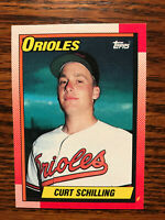 1990 Topps #97 Curt Schilling Baseball Card Rookie RC Baltimore Orioles Raw