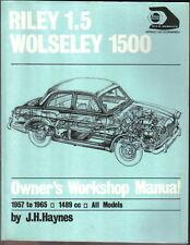 Riley 1.5 & Wolseley 1500 1957-65 1489cc Haynes Owners Workshop Manual Paperback