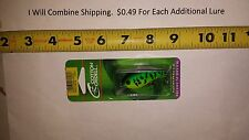 """COTTON CORDELL Big O Lure 2-1/4"""" Green Tiger fishing lure Dull Clear bill NEW"""