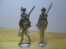VINTAGE RARE PART SET OF NAPOLEONIC FLAT LEAD SOLDIERS 'FRENCH IMPERIAL GUARD'