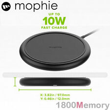 GENUINE Mophie Charge Stream Pad+ Wireless Qi 10W Fast Charger Black for iPhone