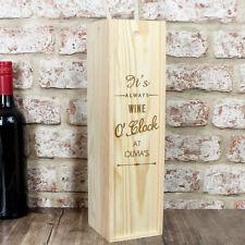 Personalised O'Clock Alcohol Bottle Presentation Box - Wine, Whiskey, Gin, Vodka