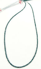 Blue Diamond faceted beads 14ct 15inch line wholesale beaded necklace string