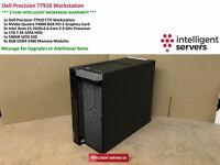 Dell T7910 Workstation  Xeon E5-2620 V3 2.60GHz 32GB 1TB SATA  500GB SSD  P4000