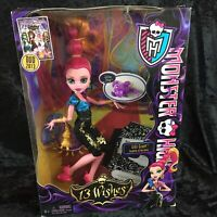 NEW Monster High Doll 13 Wishes Gigi Grant 2012 NRFB with Pet Sultan Sting