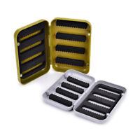 waterproof fishing tackle box double side foam fly fishing lure bait hook cas FD