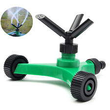 360° Lawn Circle Räder Rotating Water Sprinkler 3 Nozzle Garden Irrigation Tool