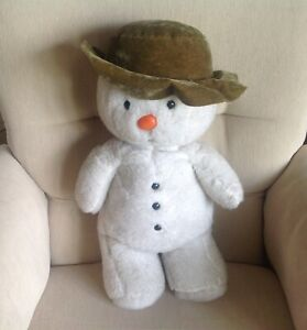 "GOLDEN BEAR Vintage Raymond Briggs The Snowman Soft Plush Pyjama case 21"" 1985"