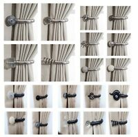 Home Fab Decorative Pair of Curtain Holdbacks Wall Mounted Curtain Tie Backs