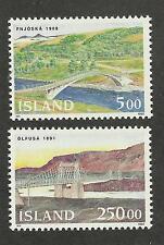 Iceland 754-755 (1992) Mnh/Ognh; Fvf & Vf {Illustrated} 2 Stamps