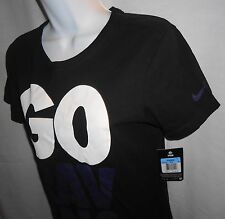 NEW NIKE BALTIMORE RAVENS WOMEN'S GO BIG T-SHIRT - BLACK Sz.M