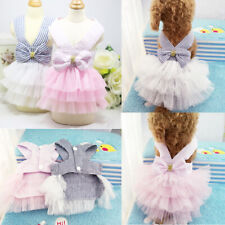 Summer Pet Puppy Small Dog Cat Clothes Bowknot Lace Skirt  Princess Tutu Dress
