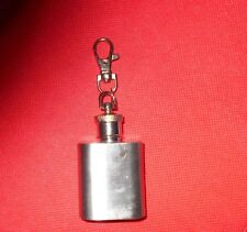 Key Chain Lobster Clasp Stainless Steel 1 oz Screw Top Drinking Flask