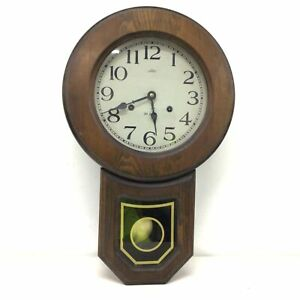 Vintage Daekor 31 Days Wooden Wind Up Chime Pendulum Wall Clock #710