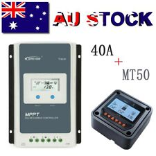 EPEVER 40A MPPT Solar Charge Controller 12/24V Auto PV 100V Negative Ground+MT50