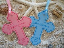 10 Gift Tags Religious Cross Christening Bomboniere Personalised Holy Communion