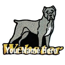Cane Corso Dog Custom Iron-on Patch With Name Personalized Free
