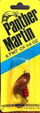 Panther Martin Orange/Black/Gold Blade 1/4 oz. Spinner Fishing Lure (#6 PMT CR)