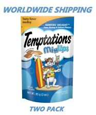 Temptations Cat Treats Surfer's Delight 3 Oz TWO PACK WORLDWIDE SHIPPING