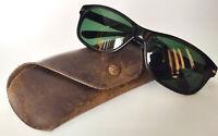 Persol Ratti vintage sunglasses Italy case Large Size 59 black green len classic
