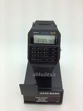 Mens Casio CA53W-1 Databank Calculator Black Rubber Digital Sport Alarm Watch