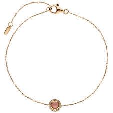 Armband 585 Gold Rotgold 1 Turmalin Cabochon pink 16 Diamanten Brllanten 20 cm