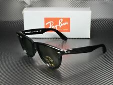 RAY BAN RB2140 901 Wayfarer Black Crystal Green 54 mm Unisex Sunglasses
