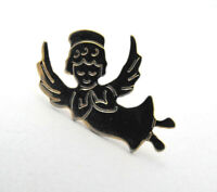Flying Angel with Wings Gold Tone Praying Hands Sweater Lapel Pin Tie Tack Nice