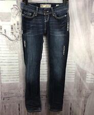 The Buckle BKE SABRINA Low Rise SKINNY LEG Stretch Blue Jeans Sz 25R 25x30 ■j