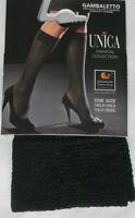 Black Subtle Pattern High Quality Ladies Knee High Tights. Pop Socks.