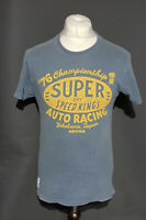 Superdry Men's T Shirt Blue Short Sleeve Small 100% Cotton Faded Marks