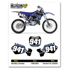1996-2001 YAMAHA YZ 125-250 Bad Boy Dirt Bike Graphics Custom Number Plates