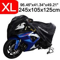 XL Universal Motorcycle Cover Motorbike Waterproof Rain Dust UV Protector Black