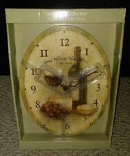 "Wall Clock New ""Napa Vineyards"" Time Relics Collection By Sonoma"