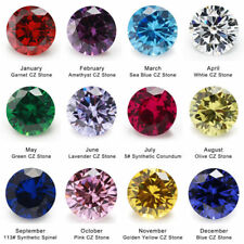 50PCS Per Colors Total 600pcs Round Birthday Stone Loose Cubic Zirconia CZ Stone