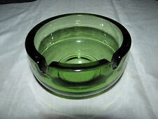 """Green Glass 3 3/4"""" Diameter Ashtray or Candle Holder"""