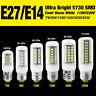 BLANC FROID/BLANC CHAUD 9W 15W 25W 5730SMD LED LUMIÈRE DE MAÏS E14 E27 AMPOULE