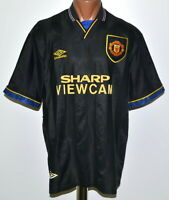 MANCHESTER UNITED 1993/1994/1995 AWAY FOOTBALL SHIRT JERSEY UMBRO SIZE XL ADULT