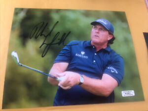 Phil Mickelson Signed 8x10 Photo PGA COA
