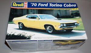 '70 Ford Torino Cobra Revell 1/25 Complete & Unstarted.