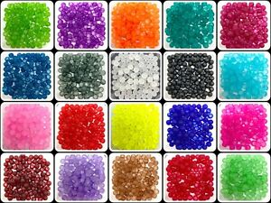 Frosted Round Glass Beads - choice of colours, sizes 4mm 6mm 8mm 10mm