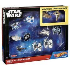 Hot Wheels Star Wars Hero & Villain Starships 11pk Gold Slave 1 MF Diecast