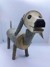 Handmade Dachshund Figurine Wooden Rustic Chainsaw Art Adorable Gift