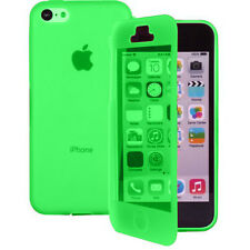 Case Cover Wallet Book Silicone Flap GREEN Apple iPhone 4 4S 4G