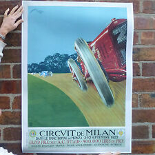 Milan grand prix 1922 vintage automobile poster voiture racing motorsport-A4