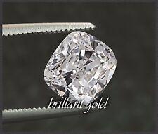 Diamant im Cushion Schliff 0,56 ct mit Zertifikat, Top Wesselton, Si, Natürlich