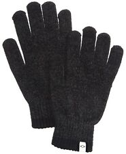 New $79 Alfani Men'S Knit Gloves Gray Touch Screen Athletic Warm Winter One Size