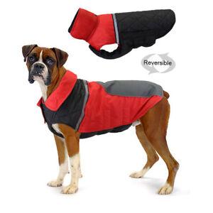Red Dog Coat Waterproof Reflective Pet Dog Clothes Jacket For Boxer Labrador